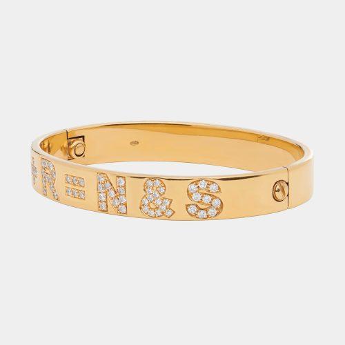 Bracciale con cordino personalizzato in oro rosa e diamanti- Rosanna Cattolico gioielli