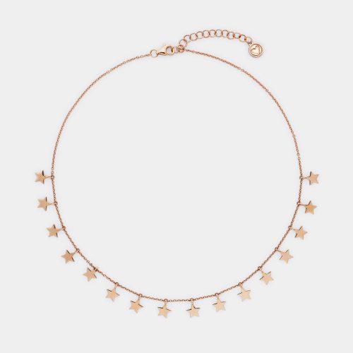Collana stelle pendenti in oro rosa - Rosanna Cattolico gioielli
