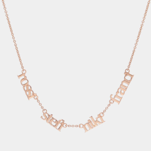 Girocollo in oro rosa personalizzato - Rosanna Cattolico gioielli