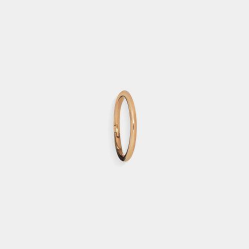 Mono Orecchino micro-cerchietto in oro rosa per piercing padiglione orecchio - Rosanna Cattolico gioielli