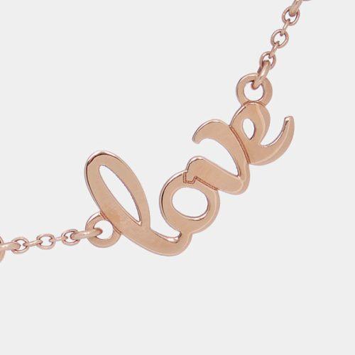 Girocollo in oro rosa personalizzato con diamanti bianchi - Rosanna Cattolico gioielli