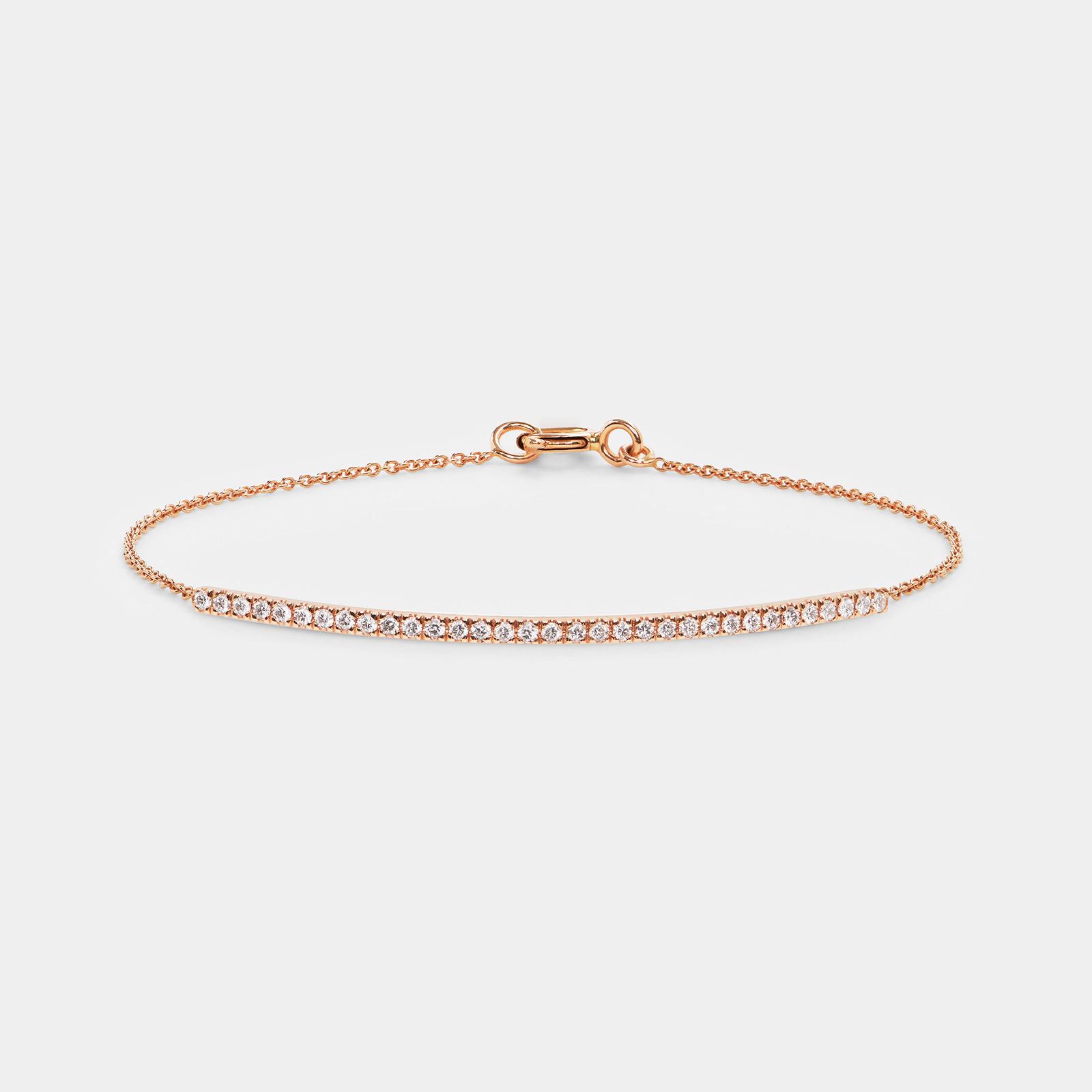 Bracciale in oro rosa e diamanti - Rosanna Cattolico gioielli