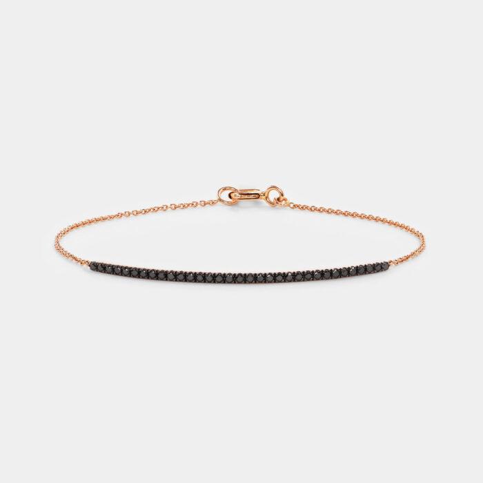 Bracciale in oro rosa e diamanti neri - Rosanna Cattolico gioielli