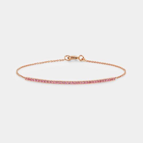 Bracciale in oro rosa e zaffiri rosa - Rosanna Cattolico gioielli
