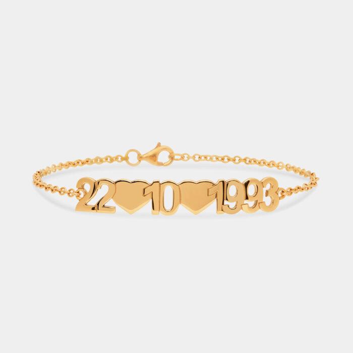 Bracciale data in oro giallo - Rosanna Cattolico gioielli