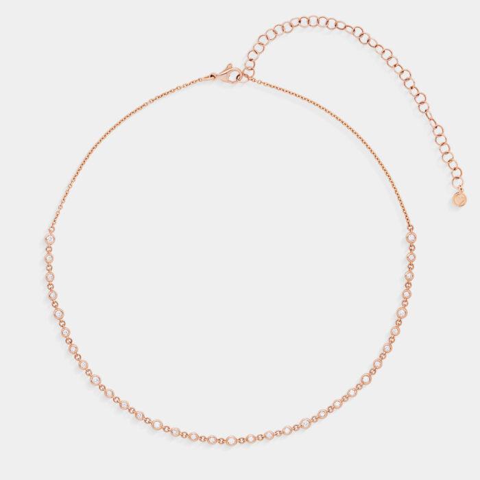 Girocollo in oro rosa e diamanti - Rosanna Cattolico gioielli