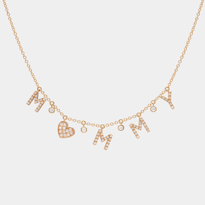 Girocollo in oro giallo e diamanti personalizzato - Rosanna Cattolico gioielli