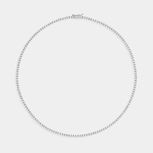 Girocollo tennis in oro bianco e diamanti - Rosanna Cattolico Gioielli