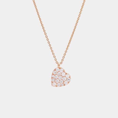 Girocollo cuore in oro rosa e diamanti - Rosanna Cattolico Gioielli