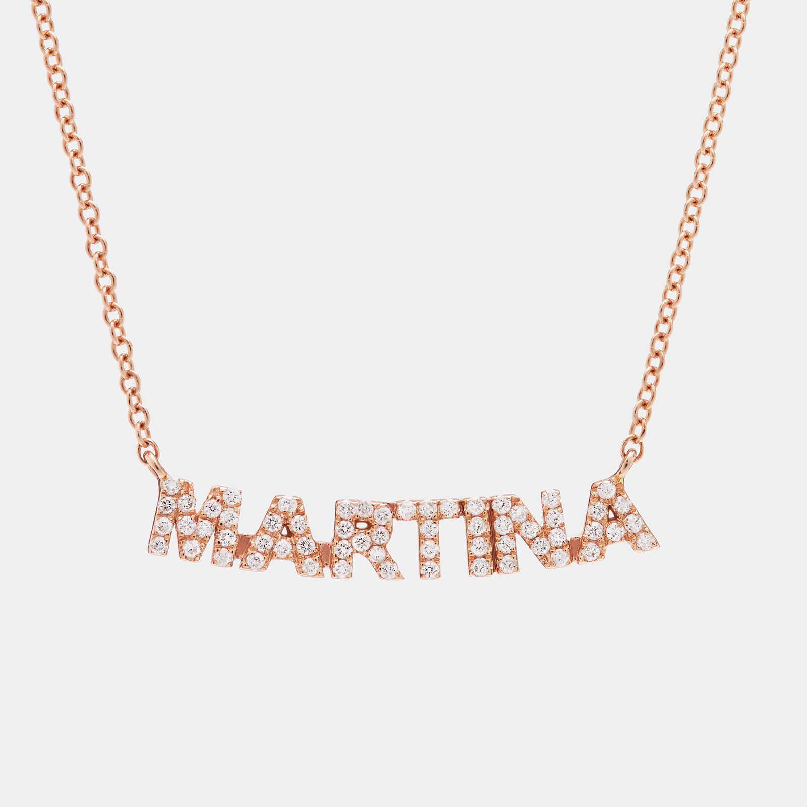 Girocollo in oro rosa e diamanti personalizzato - Rosanna Cattolico gioielli