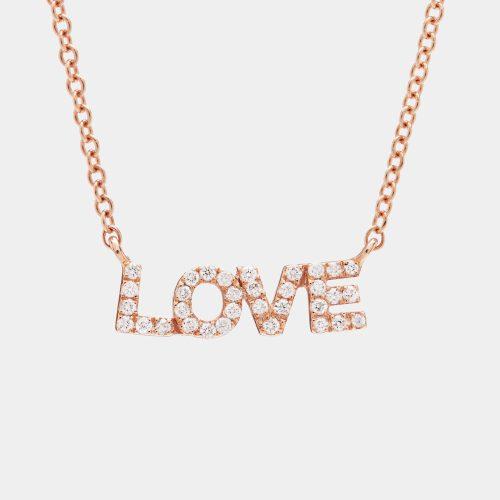 Girocollo love in oro rosa e diamanti - Rosanna Cattolico gioielli