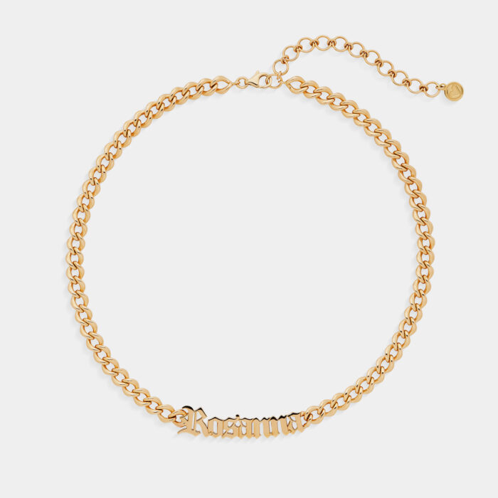 Girocollo groumette in oro giallo personalizzato - Rosanna Cattolico gioielli