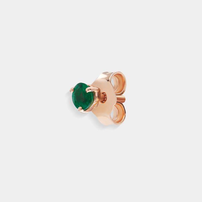 Mono orecchino punto luce smeraldo - Rosanna Cattolico gioielli