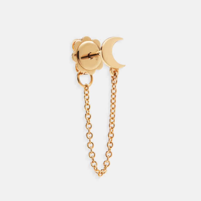 Mono Orecchino luna in oro giallo - Rosanna Cattolico gioielli