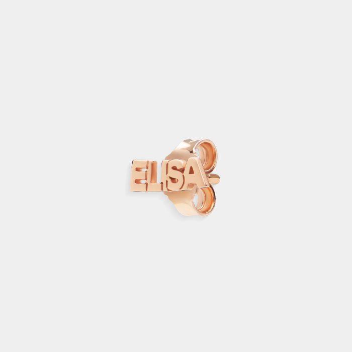 Mono Orecchino in oro rosa personalizzato - Rosanna Cattolico gioielli