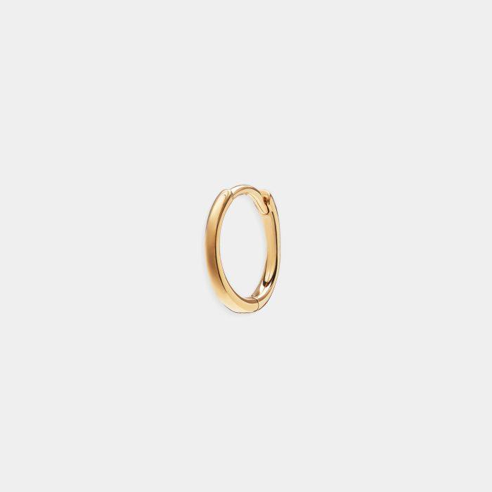 Mono orecchino micro-cerchietto in oro giallo - Rosanna Cattolico gioielli