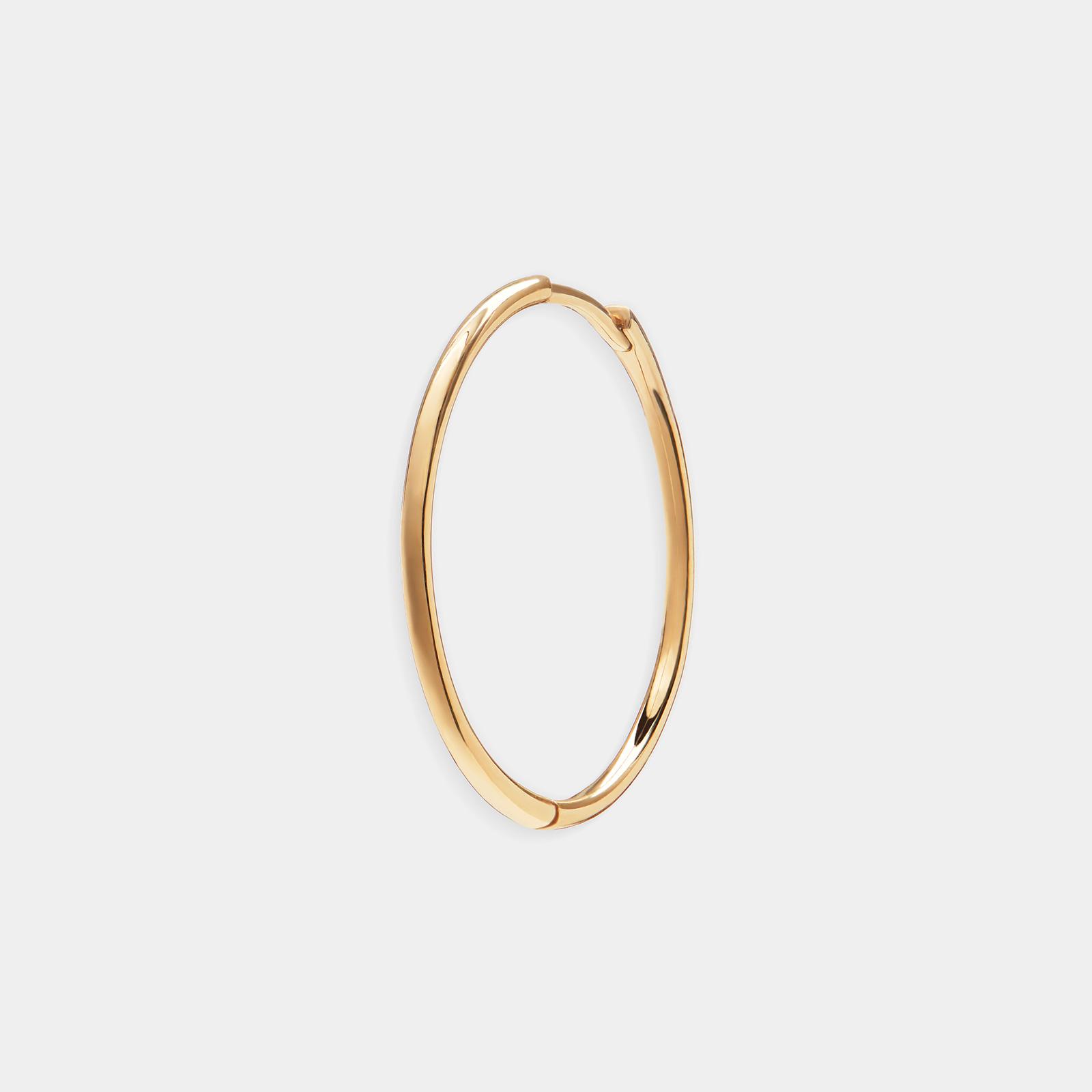 Mono orecchino cerchietto in oro giallo - Rosanna Cattolico gioielli