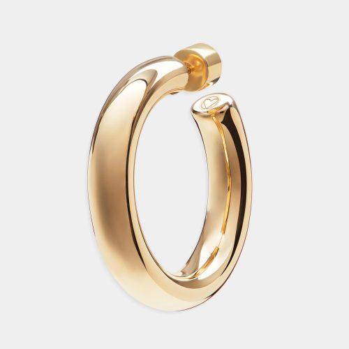 Mono orecchino cerchietto placcato oro giallo - Rosanna Cattolico gioielli