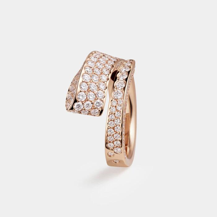 Crivelli - Anello Like in oro rosa e diamanti - Rosanna Cattolico gioielli