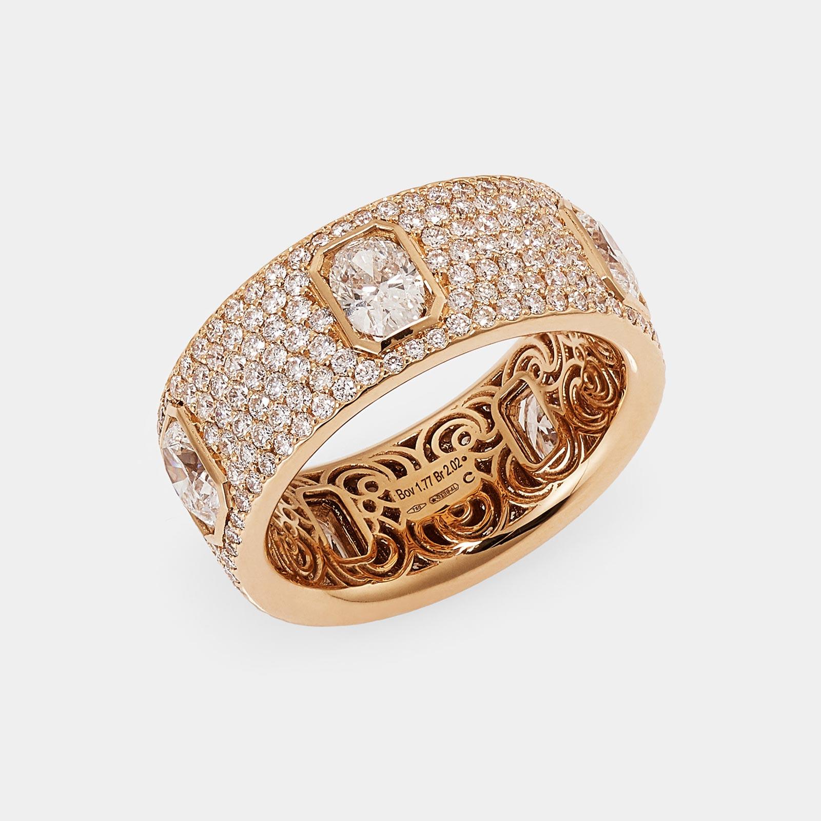 Crivelli - Anello in oro rosa e diamanti - Rosanna Cattolico gioielli