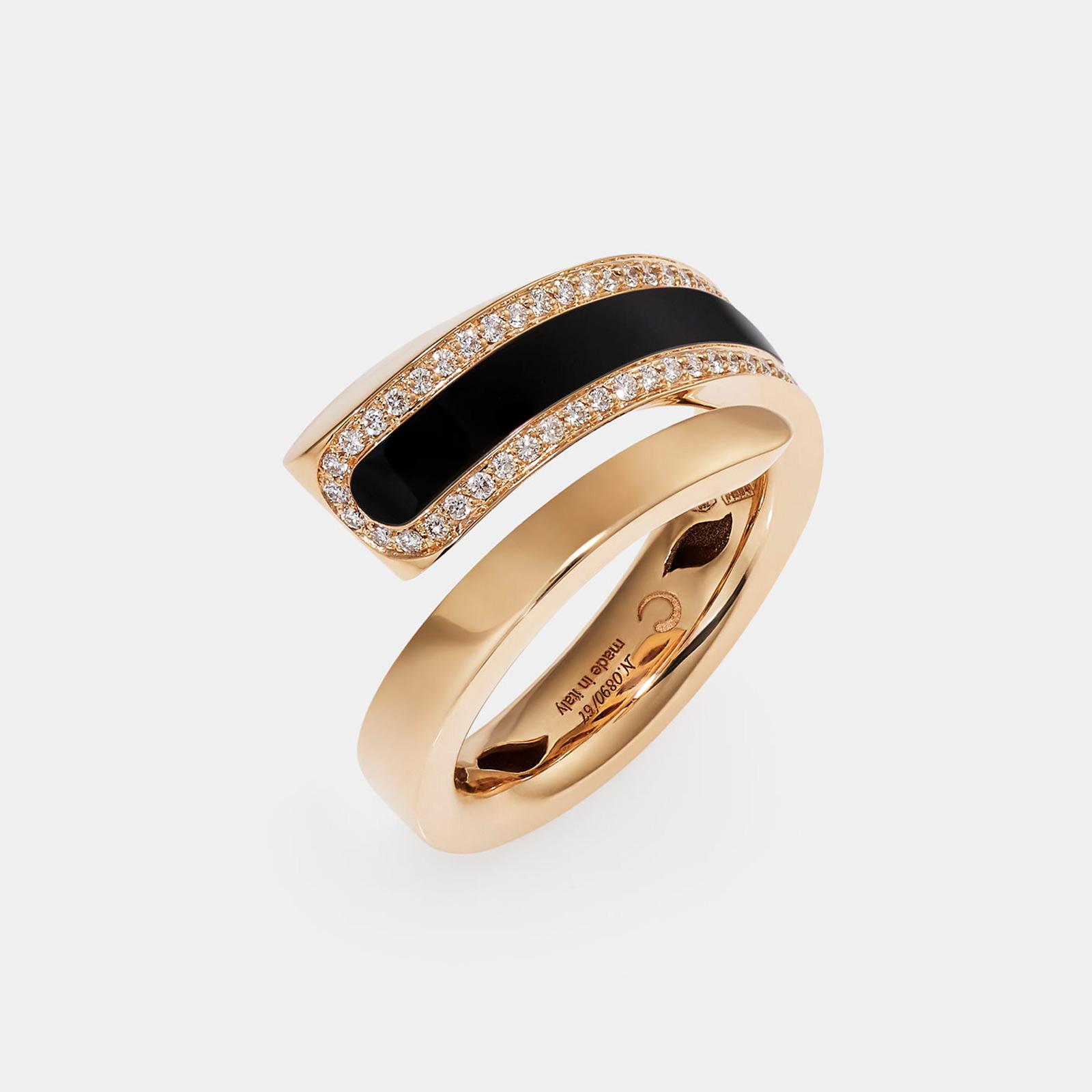Crivelli - Anello Like Chromatic in oro rosa e diamanti - Rosanna Cattolico gioielli