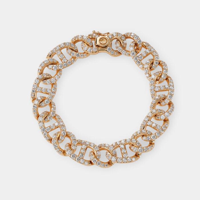 Crivelli - Bracciale groumette in oro rosa e diamanti - Rosanna Cattolico gioielli