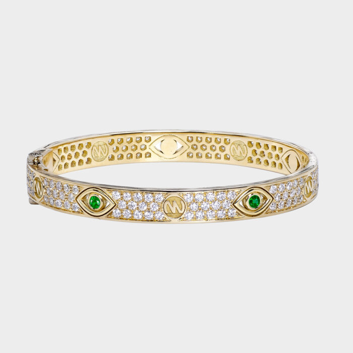 Netali Nissim - Bracciale Bangle Love in oro giallo e zaffiri | Rosanna Cattolico gioielli