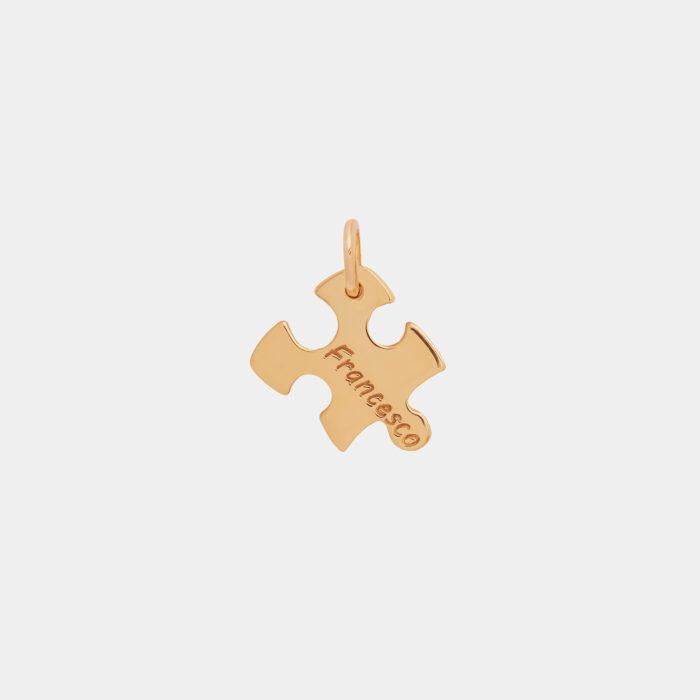 Ciondolo puzzle in oro giallo - Rosanna Cattolico gioielli