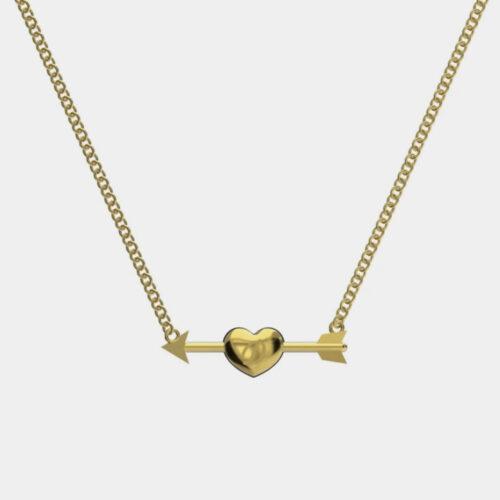 Delfina Delettrez - Girocollo Dardo Initial in oro giallo personalizzabile con iniziale incisa e diamante - Rosanna Cattolico gioielli