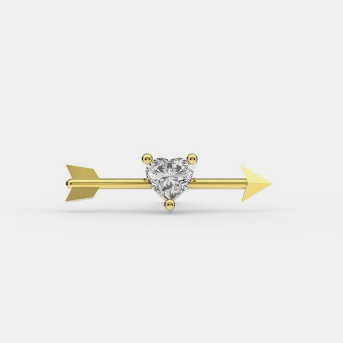 Delfina Delettrez - Orecchino Dardo in oro giallo e diamante - Rosanna Cattolico Gioielli