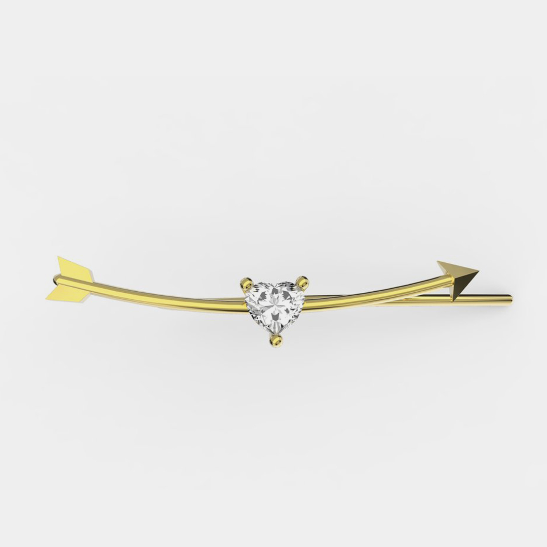 Delfina Delettrez - Earcuff Dardo in oro giallo e diamante - Rosanna Cattolico gioielli