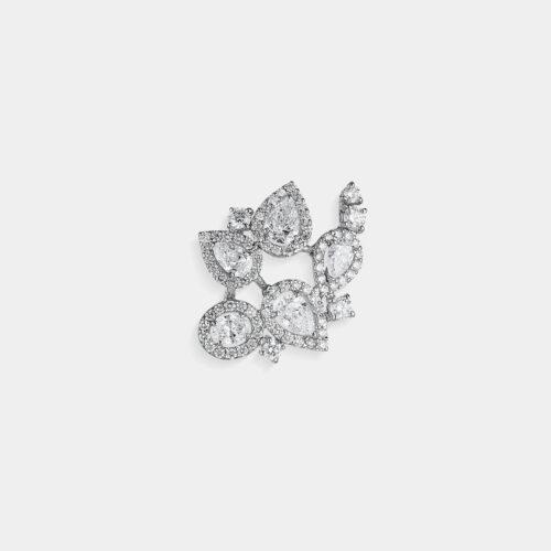 Crivelli - Mono orecchino earcuff in oro bianco e diamanti | Rosanna Cattolico gioielli