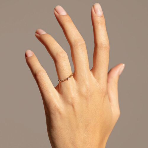 Delfina Delettrez - Anello Unchain My Heart in oro giallo e diamanti - Rosanna Cattolico gioielli