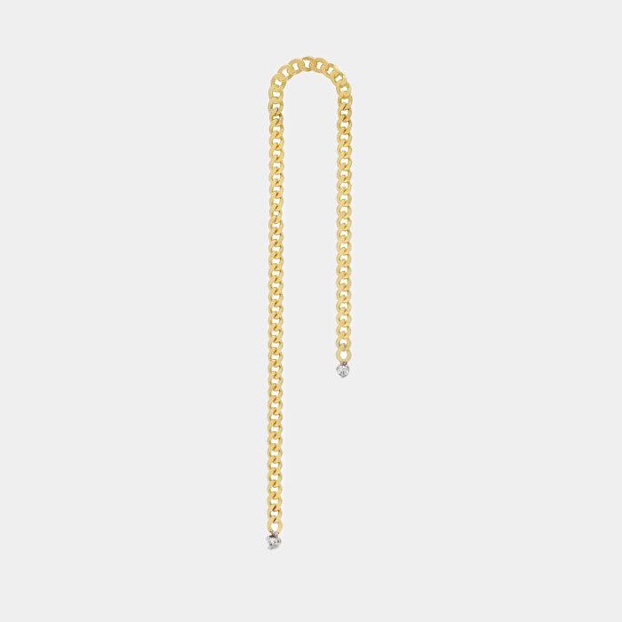 Delfina Delettrez - Orecchino Unchain My Heart in oro giallo e diamanti - Rosanna Cattolico gioielli