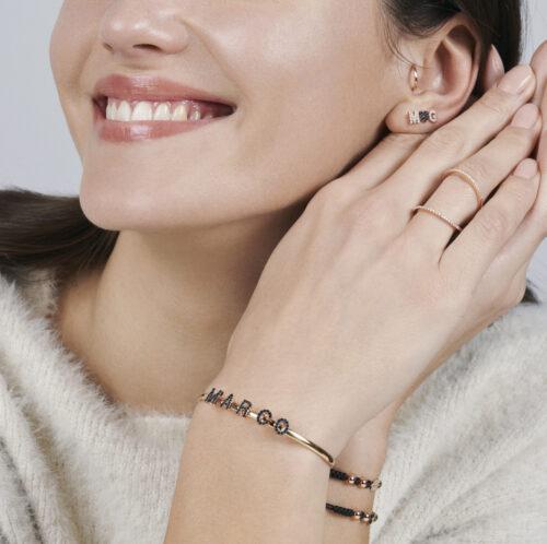 Rosanna Cattolico - Mono orecchino micro-cerchietto in oro rosa per piercing padiglione orecchio