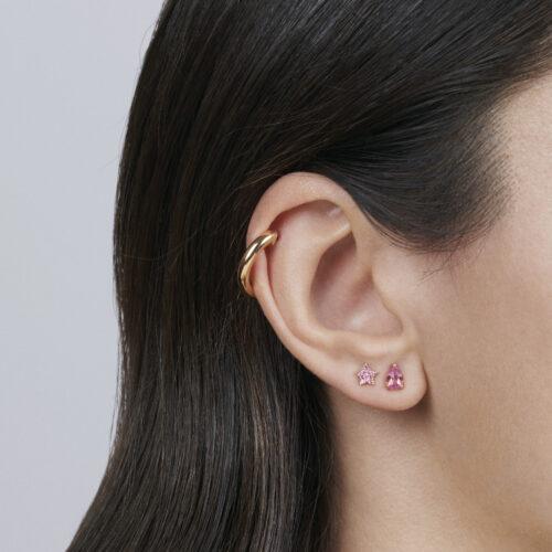 Rosanna Cattolico - Mono orecchino cerchio in oro giallo 16 mm