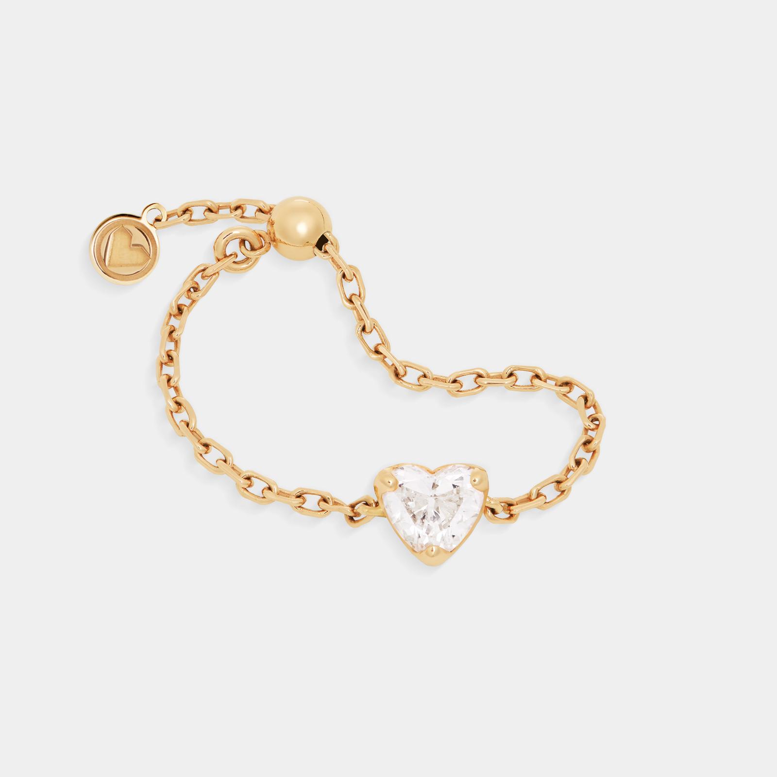 Rosanna Cattolico - Anello morbido in oro giallo e diamante taglio cuore