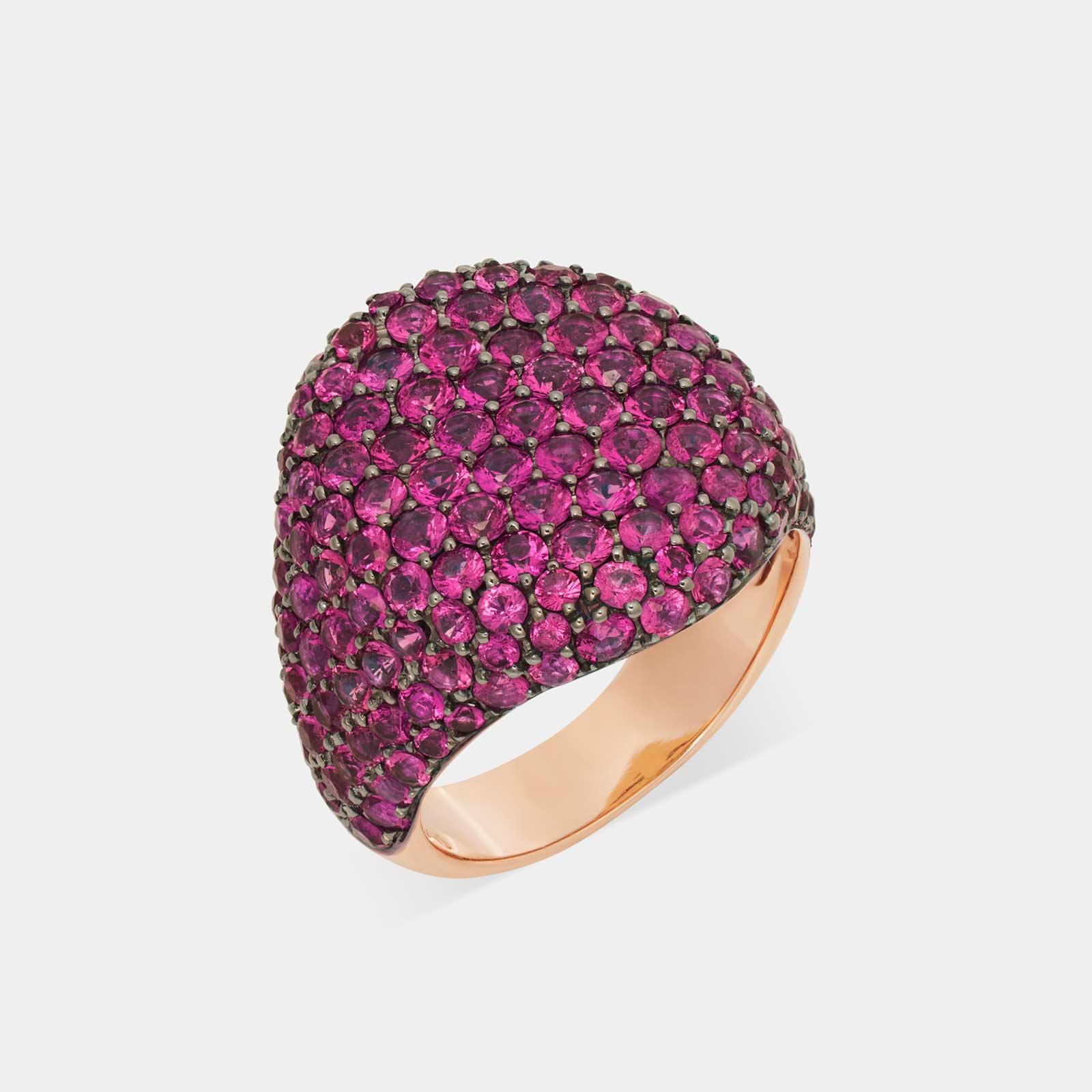 Crivelli - Chevalier in oro rosa e pavè di rubini