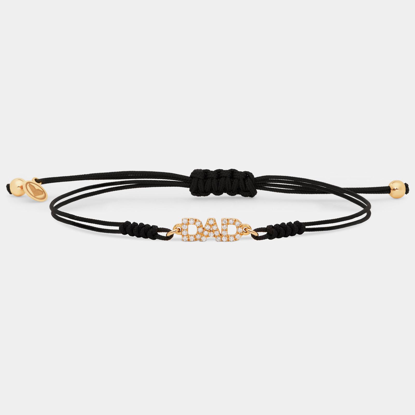 Rosanna Cattolico - Bracciale con cordino personalizzato in oro giallo e diamanti
