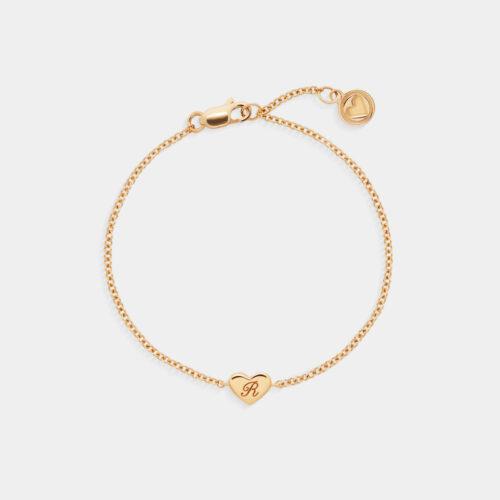 Rosanna Cattolico - Bracciale morbido con cuore in oro giallo