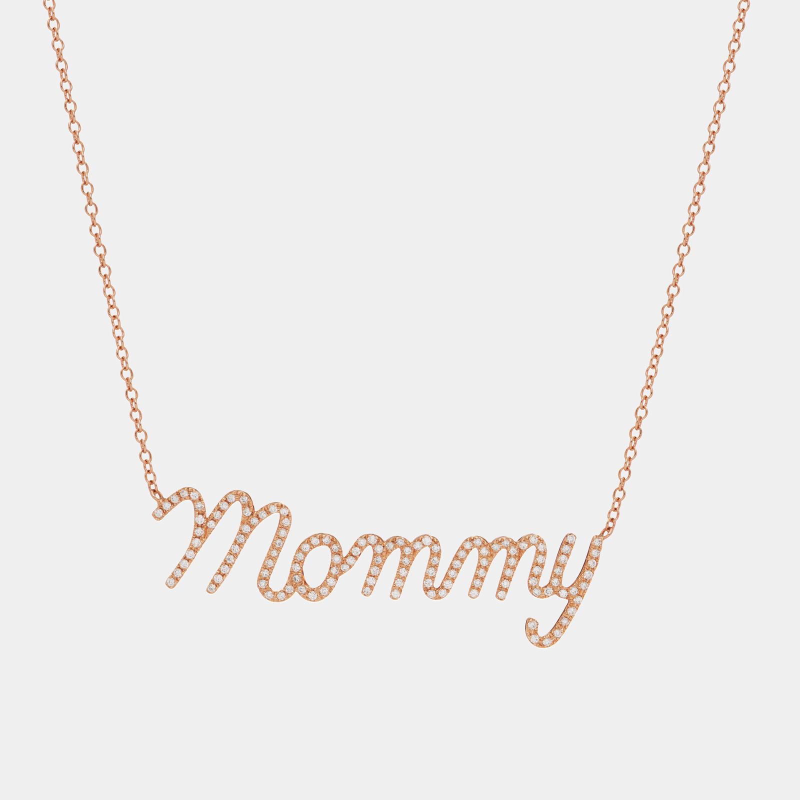Rosanna Cattolico - Girocollo in oro rosa personalizzato con diamanti bianchi