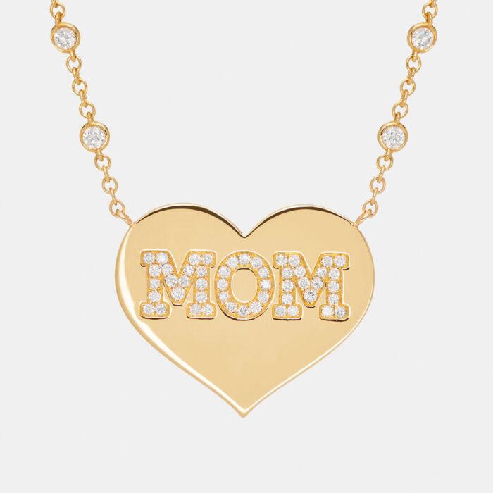 Rosanna Cattolico - Collana girocollo cuore personalizzato in oro giallo e diamanti