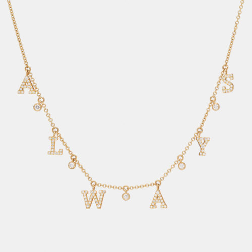 Rosanna Cattolico - Collana girocollo in oro giallo e diamanti ALWAYS