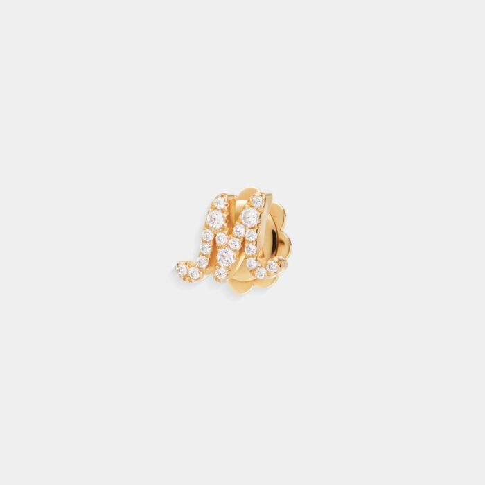Rosanna Cattolico - Mono orecchino con letterina in oro giallo e diamanti